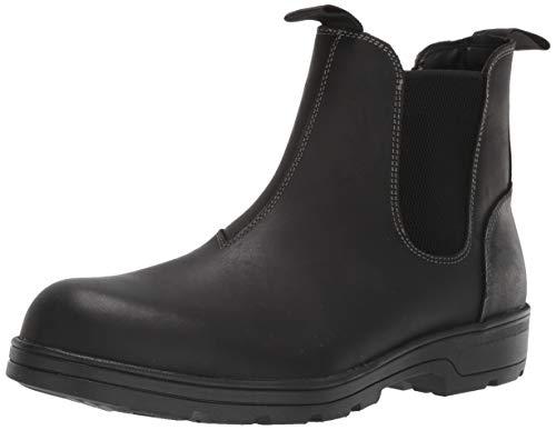 Steve Madden Men's Builder Water Resistant Chelsea Boot, Black Leather, 13 M US