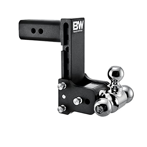 B&W Trailer Hitches Tow & Stow - Fits 2.5' Receiver, Tri-Ball (1-7/8' x 2' x 2-5/16'), 7' Drop, 14,500 GTW - TS20049B Review