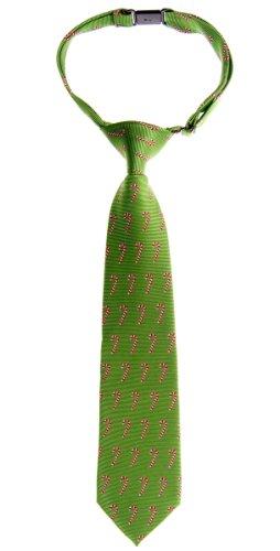 Retreez Krawatte mit Weihnachts-Motiv, gewebt, vorgebunden, für Jungen, mit Zuckerstangen-Muster Gr. 130 cm, grün
