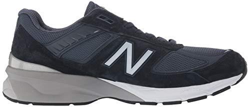 New Balance Men's Made in US 990 V5 Sneaker, Navy/Silver, 7