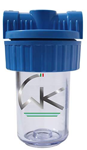 WK wkcont12 Filterbehälter 5 1/2 Zoll Dreiwege-Filter, durchsichtig