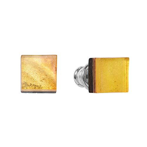 ANDANTE Premium Collection – Master of Zen – Pendientes de ámbar natural del mar Báltico, oro puro de 23 quilates, plata de ley 925 y roble negro, Arinna, la diosa del sol, certificado