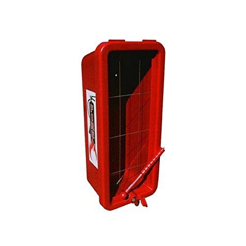 CATO 12051-H Red Plastic Chief Fire Extinguisher Cabinet for 20 lb. Extinguisher, with Hammer and Cylinder Lock