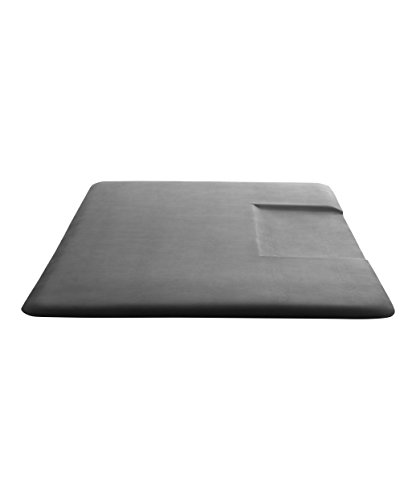 Buy-Rite 3 ft. x 5 ft. Super Soft Rectangular Floor Mat with Black Square Cut-Out for Salons, Stylists & Barber Shops, Puncture Proof & Low Static Surface, 3/4 Inch Thick, SHP-SS3050RSQR3/4
