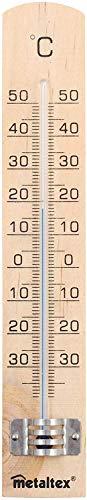 Metaltex 298005 - Termómetro de Madera para Interior, 18 centímetros
