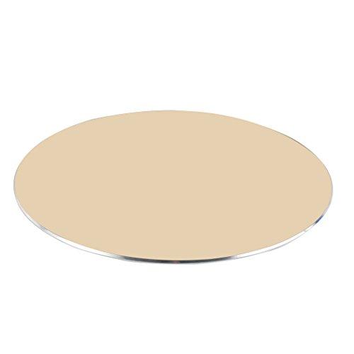 Zoohot aluminium muismat met antislip rubberen basis, ronde muismat van het kantoor (goud)