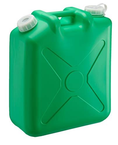 瑞穂化成 扁平缶 ノズル無 20L グリーン 0207G 両口 カラーポリタンク
