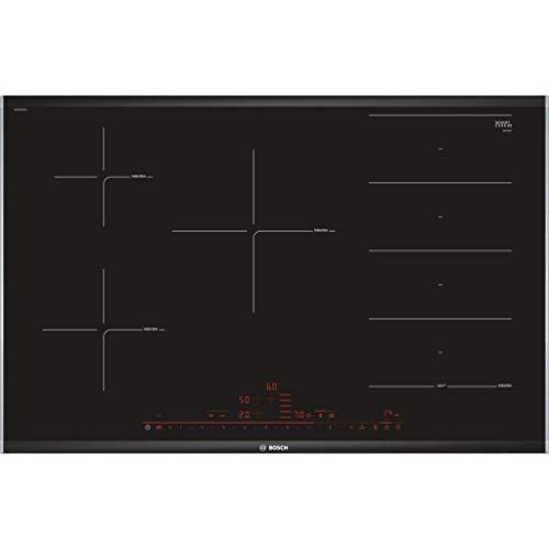 Bosch Serie 8 PXV875DC1E - Placa de inducción, 60 cm, 17 niveles de potencia, 3 zonas de cocción, Control táctil, Color negro