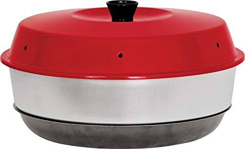 Omnia Campingbackofen, Aluminium, rot/grau, Auflaufform platzsparend leicht