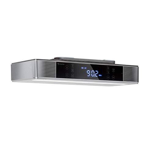 auna KR-140 - Radio de Cocina, Radio bajo Mueble, Bluetooth 4.1, Manos...