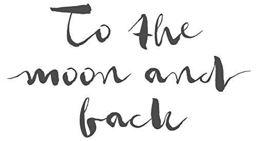 dekodino® Wandtattoo Schlafzimmer Spruch To the moon and back Wandsticker Deko