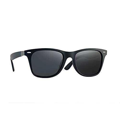 Gafas De Sol Polarizantes Para Hombreclásico Clásicos Moda Personalidad Uñas De Uñas Gafas De Conducción Retro Escamas grises blancas con ojos de arroz con marco negro