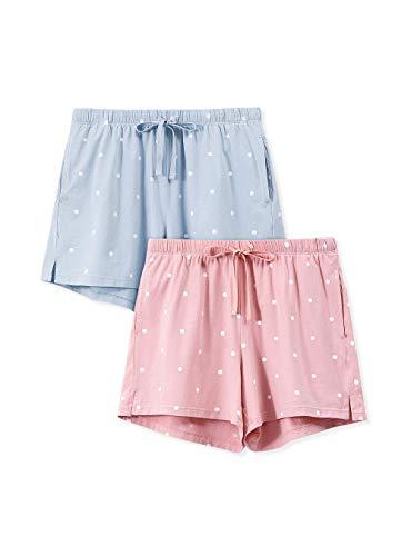 Femofit Pantaloni da Pigiama Donna Corta Cotone Casa Casual con Coulisse Trousers per Maniche Corte Le Donne