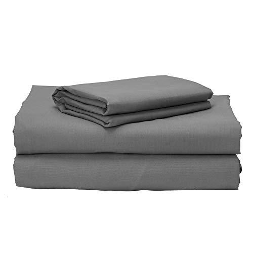 Pikolin Home, Juego de cama 100% algodón 150 hilos de calidad extra transpirable para cama de 150 en color gris