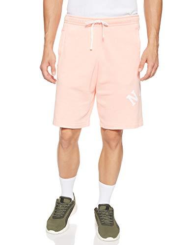 Nike Ce Ft Wash - Pantaloncini da Uomo, Uomo, Pantaloncini Uomo, AR2931, Sbiancato Corallo/Summit Bianco, XL