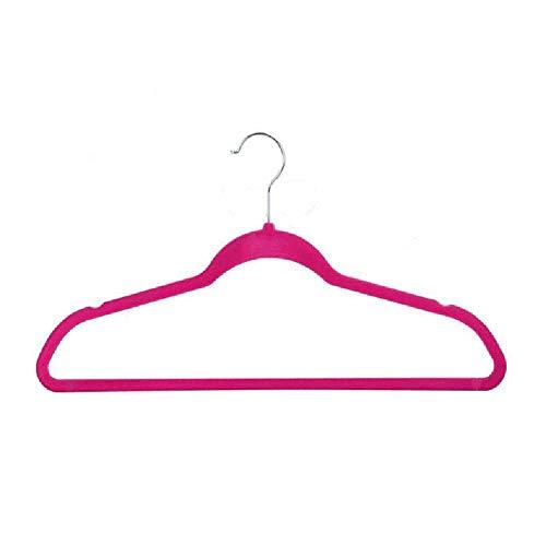 N\\C Flocado percha terciopelo antideslizante sin costuras suspensión ultrafino y ahorro de espacio de plástico colgador de ropa gris