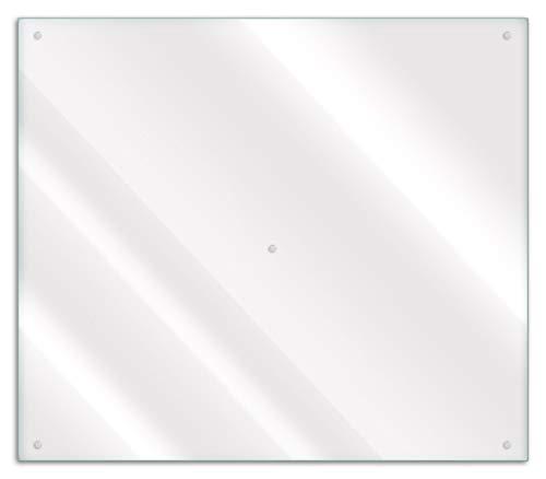 Wallario Herdabdeckplatte/Spritzschutz aus Glas, 1-teilig, 60x52cm, für Ceran- und Induktionsherde, transparent - durchsichtig