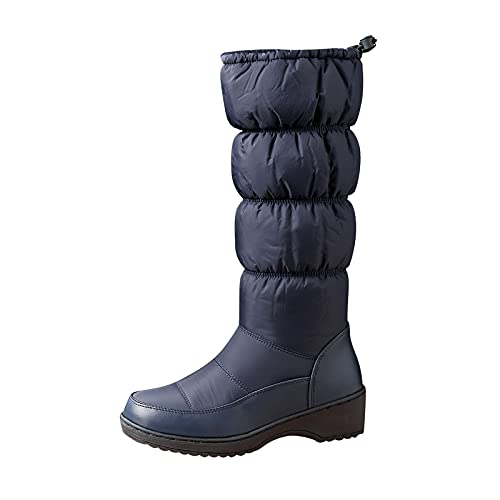 Winter Boots for Women Casual Solid Plus Velvet Shoes Warm Middle Heels Middle Tube Footwear Fashion Snow Boots