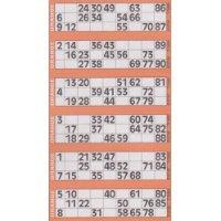everyoccasions bingo tickets 6 to view 600 per book orange in colour