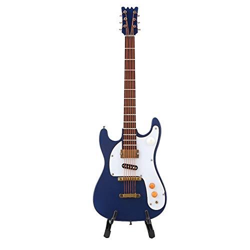 Atyhao Guitarra en Miniatura, 7.1in Modelo de Mini Guitarra eléctrica de Madera...