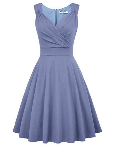 a Linie Casual Kleid festlich Petticoat Kleid Damen Moderne Kleid Audrey Hepburn Kleider CL698-12 L