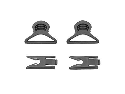 FMA - Goggle Swivel Clips 36mm for Helmet with Rails Black