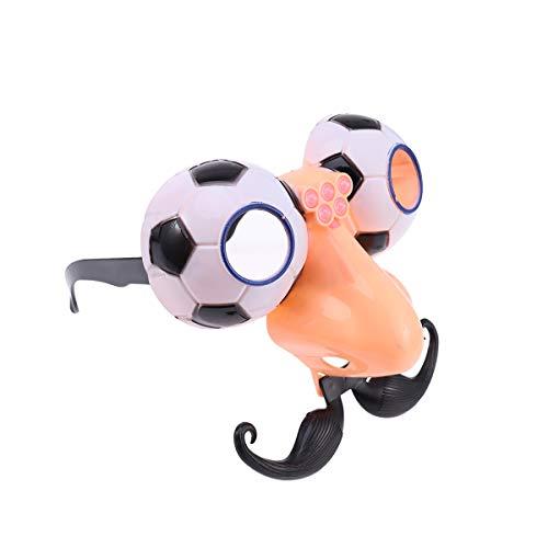 YeahiBaby Lustige Brille Disguise Gläser mit Nase Schnurrbart Fußball Form Gläser Halloween Party Zubehör