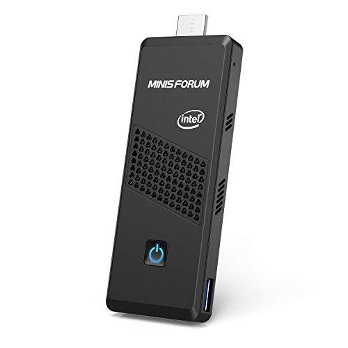 MINISFORUM Windows 10 Pro Mini PC Stick, Intel Celeron N4120(up to 2,6 GHz) Quad-Core Prozessor, 4GB LPDDR4+64GB eMMC Mini-Computer-Stick, Unterstützung von 4K HD@60Hz/HDMI+Mini-DP/Dualband-WLAN/BT5.0
