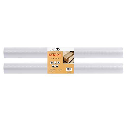 MamboCat Schubladenmatte Matze 2er Set 150x50cm I Schubladenschutz durchsichtige Antirutschmatte I DIY zuschneidbare Einlegefolie für Schränke I Einlage Schrank Pad Plastik Unterlage für Küche Bad