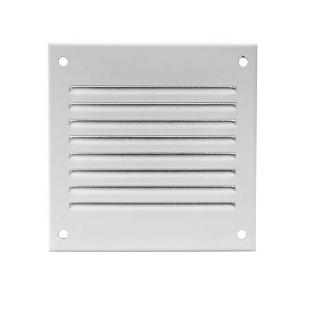 Air Vent Cover Steel Return Air Grilles - for Ceiling and Sidewall - HVAC - with Insect Protection Screen (4x4 inch, White)