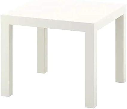 Ikea Lack - Mesa de café pequeña, mesa auxiliar (blanco)