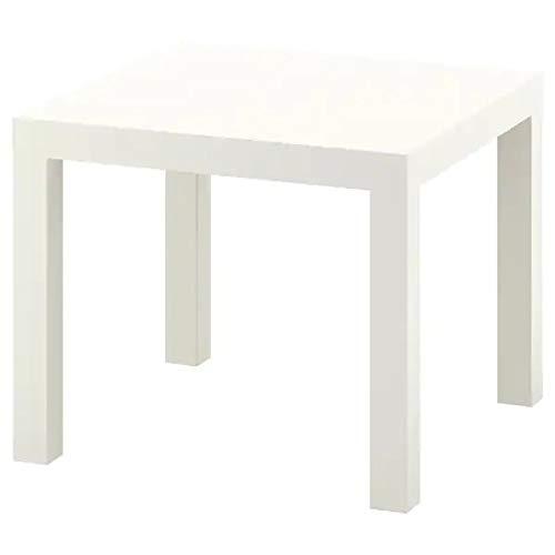 Ikea Lack - Mesa de centro pequeña, mesa auxiliar (blanco)