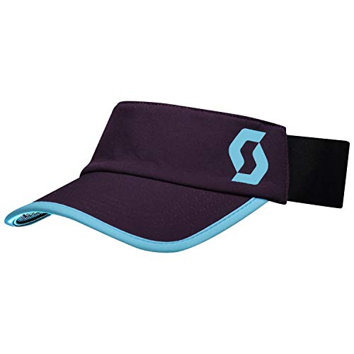 Scott Visor Trail Run Dark Purple/Breeze Blue - Visera (talla L/XL), color morado
