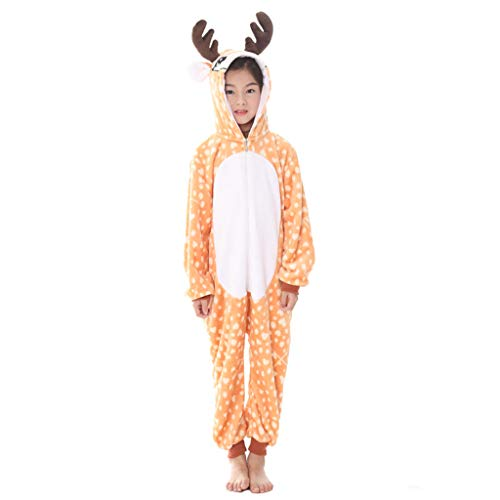 Meeyou Kids Unicorn Costume, Animal Onesie Pajamas for Boys & Girls (105, Deer)