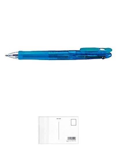 ゼブラ ボールペン クリップオンG 3色 B3A3-LB 『 2本』 + 画材屋ドットコム ポストカードA