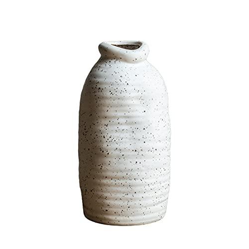 Jarrón decorativo creativo, para el hogar, multifunción, de cerámica, pasillo, balcón, mueble de TV, jarrón (tamaño: 11,5 x 25 cm)