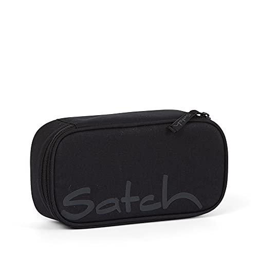 Satch Schlamperbox - Mäppchen groß, Trennfach, Geodreieck - Blackjack - Schwarz