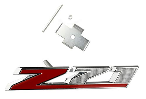 1pc Grille Z71 Emblem Front Badge Replacement for Gm GMC Chevy Silverado Chevrolet 2500Hd 3500Hd Sierra Tahoe Suburban (Chrome Red)