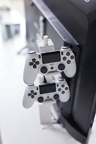 山崎実業(Yamazaki) テレビ裏 ゲームコントローラー収納ラック ホワイト 約W40.5XD8.5XH30cm スマート 置いたまま充電可能 コントローラーケース 5090約40.5X8.5X30cm