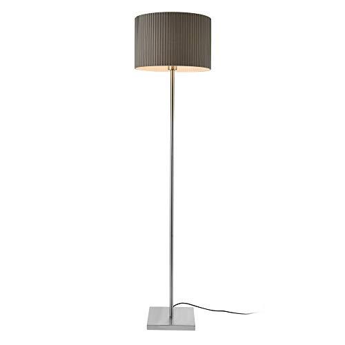 lux.pro] Lampada da Terra Coimbra Altezza 151 cm Paralume 38 x 23,5 cm E27 60W Metallo Tessuto Grigio