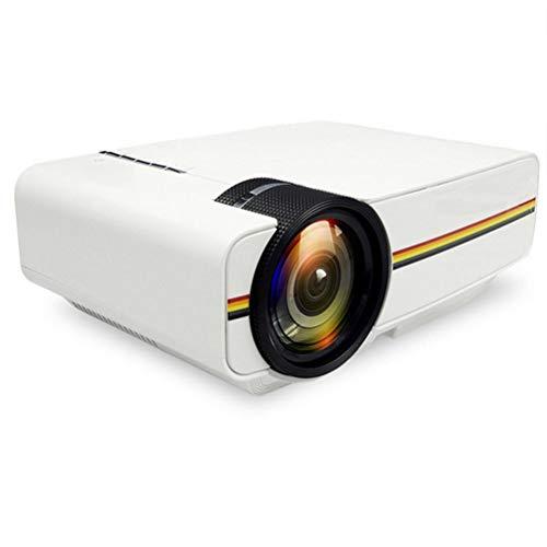 Mini-Projektor 1080P 1800 Lumen Tragbarer LCD-LED-Projektor Heimkino USB HDMI 3D Beamer Bass-Lautsprecher ( Color : White )