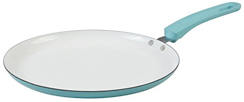 Blue Crepe Pan with Non Stick Cookware by Upstreet – designed flat pan for crepes, tortillas, and pancakes