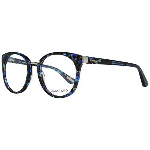 Guess by Marciano - GM0285 , Rund, Acetat, Damenbrillen, BLUE HAVANA(092 YT), 52/20/135