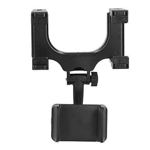 Soporte para teléfono de coche Aramox, soporte de montaje para teléfono con espejo retrovisor soporte de rotación de 360 grados negro para accesorios de coche para teléfono móvil de 3-6,5 pulgadas