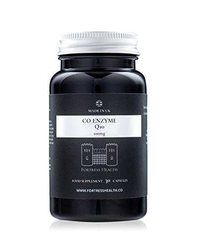 Co Enzyme Q10 - CoQ10 - Ubiquinone - 100mg - 30 Capsules - Premium Quality - Made in The UK - by Fortress Health