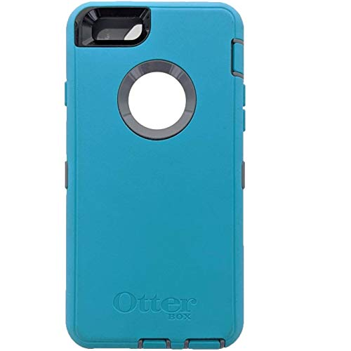 OtterBox Defender Series for iPhone 6s and iPhone 6 (NOT Plus) Case only/No Holster - Non-Retail Packaging - (Light Teal/Gunmetal Grey)