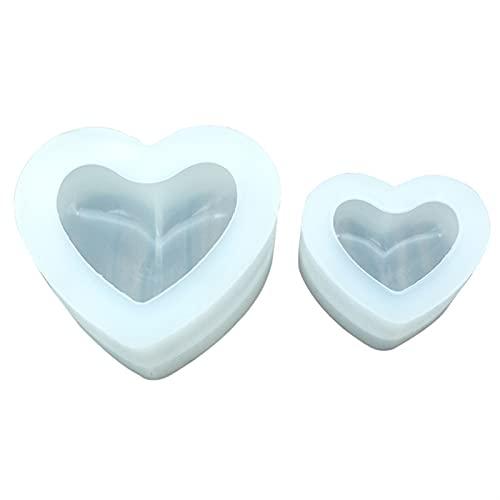 Trävax Candle Wick 3d kärlek hjärta silikon mögel arom gips plåster silikon mögel hem dekoration chrismas party diy candle harts mögel hög kvalitet (Color : M)