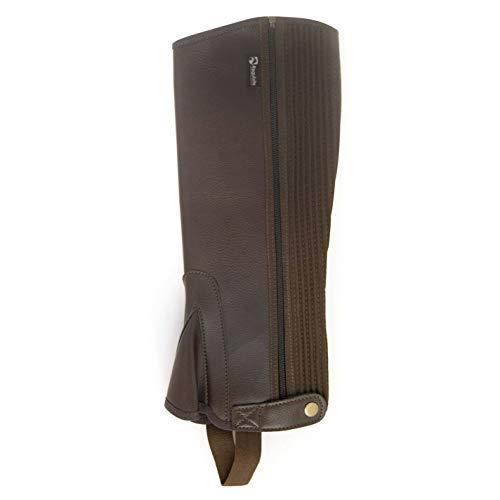 Requisite Damen Synthetik Halbe Chaps Reitchaps Reitsport Braun XL