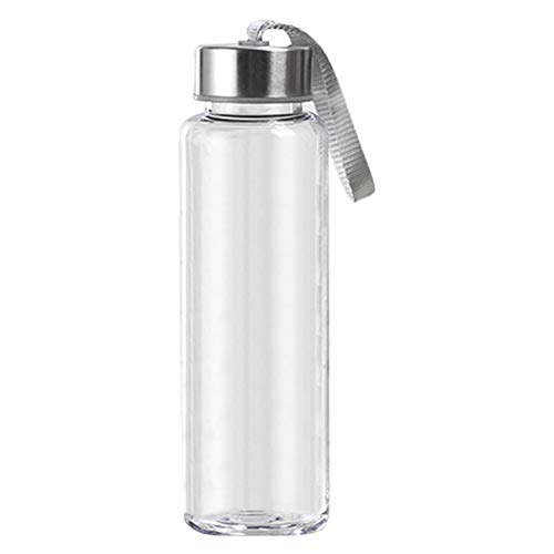 qhtongliuhewu 300/400/500 ML Water Cup Tragbare, Haltbare, Durchsichtige Plastik-Trinkflasche Für Sportgeräte Im Freien 500 ml