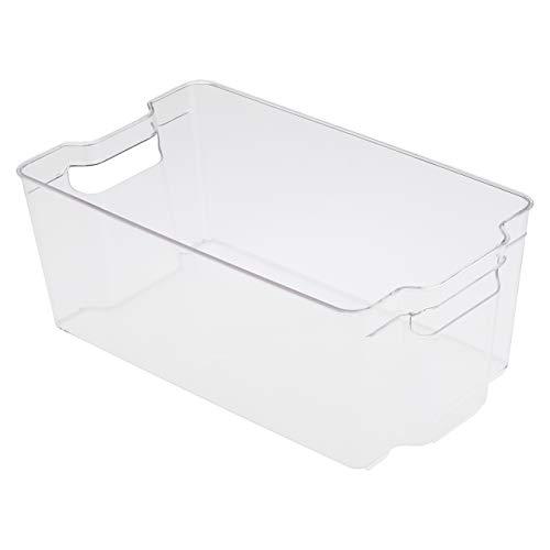 Amazon Basics - Recipientes de almacenamiento de plástico para cocina, grandes (paquete de 2)